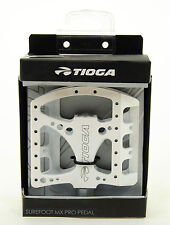 Tioga Surefoot MX Pro Platform Mountain Bike/DH/Freeride Pedals, White
