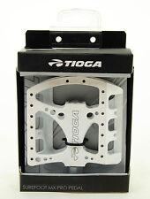 Tioga Surefoot MX Pro Platform Mountain Bike/DH/Freeride Pedals, White