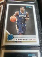 💫 ZION WILLIAMSON ROOKIE 2019-20 Donruss Rated RC # 201 (non auto) Pelicans 💥
