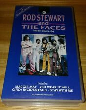 vhs ROD STEWART and THE FACES Video Biography. 18 classic tracks.