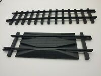 New Bright 1989 G scale model train track rerailor and 1 piece of straight track