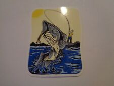 "Fishing Box or Car vinyl Sticker "" Fish on the line """
