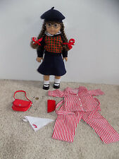 American Girl Molly Doll and Pajamas, Glasses,Watch, Necklace, Purse with Box