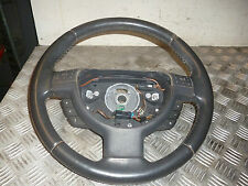 VAUXHALL TIGRA B 1.4 TWINTOP 04 3 SPOKE LEATHER STEERING WHEEL & STEREO CONTROLS