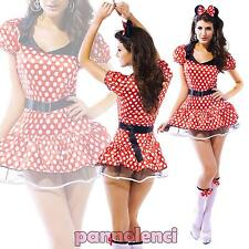 Costume Carnival Dress Woman Minnie Mouse Minidress Halloween New Dl-976