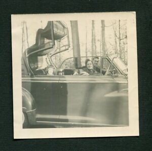 1946 1947 1948 DODGE Convertible Car w/ Pretty Girl & Man Vintage Photo 456138