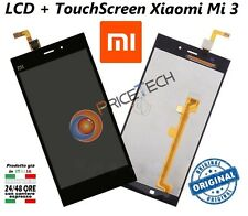 For Xiaomi MI3 Touch Screen Digitizer + LCD Display Glass Assembly nero