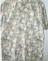 RJC Gorgeous Tropical Flowers  Proteas  Vintage Hawaiian Shirt M 2802