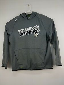 Reebok Gray TNT Hoodie Center Ice Collection Gray Pittsburgh Penguins Sz XL