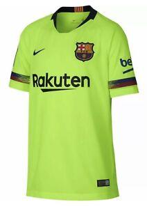 Nike FC Barcelona Jersey Mens Size XL Dri-Fit Soccer Volt Futbol Shirt
