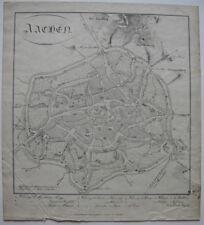 Aachen Stadtplan Orig Lithografie 1819 Monarchenkongress