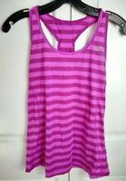 New Balance Pink Striped Workout Tank Top Racer-back women's small