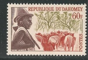Dahomey #169 (A20) VF MINT LH - 1963 60fr Peuhl Herdsman and Cattle