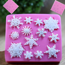Schneeflocke Fondant-Silikon-Kuchen-Deckel Mold Schokolade Sugarcraft Dekor