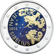 Finnland - 2 Euro 2015 - Jean Sibelius - Komponist - in Farbe - Bankfrisch