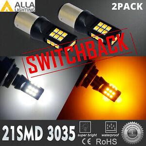 LED 2-Color Switchback Front Turn Signal Bulbs For 2008-2012 Honda Accord Sedan