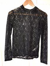 *NEW* Zara Black Lace Long Sleeve Top - Size Small / UK 8