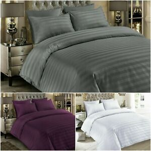 LUXURY 600TC DUVET COVER SET 100% EGYPTIAN COTTON BEDDING DOUBLE SUPER KING SIZE