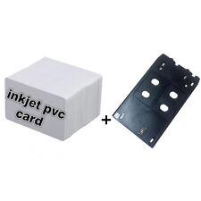 CSF Inkjet PVC Card Kit - 10X Inkjet ID Card + 1X Card Tray for Canon J Printers