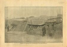 WWI Soldiers Tommies British Army Bunker blockhouses Somme War 1917 ILLUSTRATION