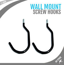 "2x 8"" PVC Coated Wall Mount Storage Screw Hooks Bike Ladder Garage Tool Hanger"