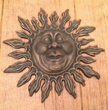 """Sun Face Cast Iron Wall Plaque 10""""  Garden Decor Supplies 0170S-05433"""