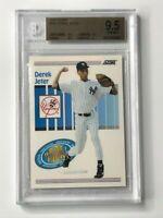 Derek Jeter 1993 Score #489 RC Yankees Rookie Card BGS 9.5 Gem Mint Goat🔥HOF🔥