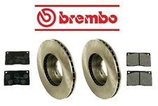 Jaguar XJRS 1993 Front Brake KIT Disc Brake Rotors & Pad Set Brembo/Mintex