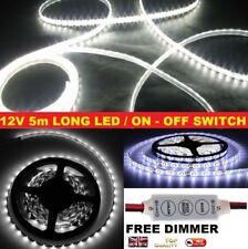 White 12V Waterproof LED Strip Lght 5 MTR FREE DIMMER 12 VOLT SELF BUILD CAMPER