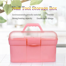 Big Capacity Nail Tool Storage Portable Organizer Tool for Art Craft & Cosmetic