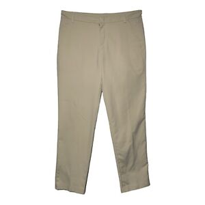 Puma Golf wicking Pant Men's 34X32 Straight Fit Light Weight Ivory