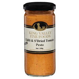King Valley Fine Foods Chilli and Sun Dried Tomato Pesto 240g