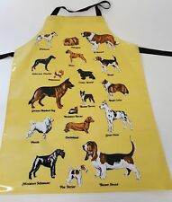 NEW GROOMING APRON - YELLOW WITH DOG DESIGN