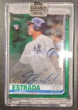 THAIRO ESTRADA 2019 Topps Clearly Authentic Rookie AUTO 18/99 Green - Yankees