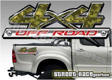 4x4 OFF ROAD 008 sticker PAIR Printed vinyl decal graphics Mitsubishi L200 Hilux
