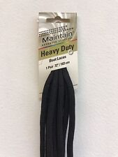 """Heavy Duty Work Boot Laces 72"""" Long  3 Pairs Pack Black Color"""