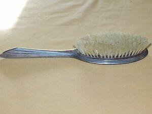 "VINTAGE 11"" LONG STERLING SILVER HAIR BRUSH"
