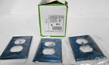 (3) Leviton 84003-40 One Gang Non-Magnetic Wall Plate