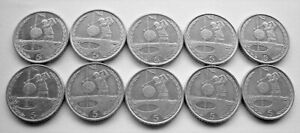 10 x ISLE OF MAN GOLF FIVE PENCE COINS - IoM MANX 5p GOLF MARKERS - FREE UK POST