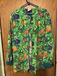 Ladies Long Sleeve Scrub Jacket Size Xlarge By Cottonality