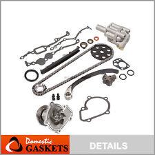 Fit 89-97 Nissan 240SX D21 Pickup 2.4L Timing Chain Kit+Oil&Water Pump KA24E