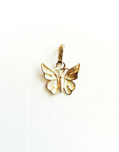 Sterling silver butterfly pendant 0.8g