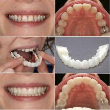2PCS Unisex Snap Upper Teeth Dental Veneers Dentures Fake Tooth Teeth White