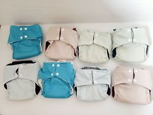 Modern cloth nappies bulk Pea pods X 8 small and medium neutral colours