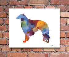Borzoi Abstract Watercolor Painting Art Print by Artist Dj Rogers