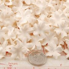 White Mini Mulberry Paper Blooms Crafts Flowers Pbw020