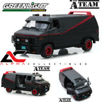 "GREENLIGHT 13521 1:18 1983 GMC VANDURA VAN BLACK ""THE A-TEAM"" TV SERIES"