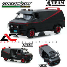 "PRESALE GREENLIGHT 13521 1:18 1983 GMC VANDURA VAN BLACK ""THE A-TEAM"" TV SERIES"