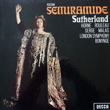 Rossini SEMIRAMIDE - Sutherland, Horne, 3 LP Box Set, Decca MET31 good condition