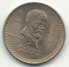 HIGH GRADE AU/UNC 1987 MEXICO MEXICAN 500 PESOS COIN-JUL236